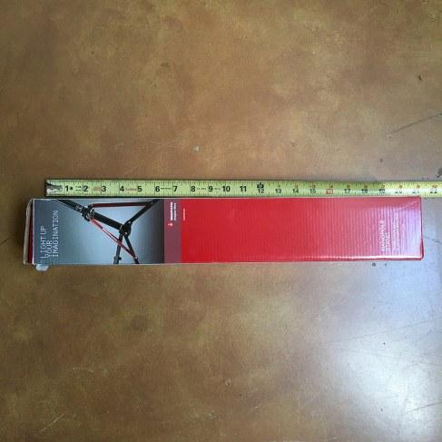 boxed Manfrotto nanopole stand