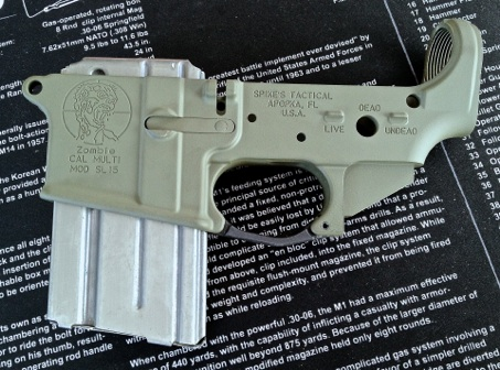 AR15 lower with mag release